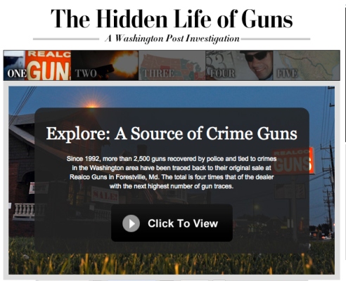 A national award-winning 2010 investigation by the Washington Post http://www.washingtonpost.com/wp-srv/special/nation/guns/