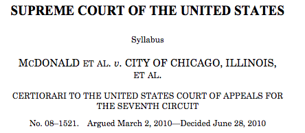 an analysis of the mcdonald v chicago case on gun control Summary of the recent mcdonald v chicago gun case location:  practicalities to determine what gun control laws would be consistent with the 2 nd.